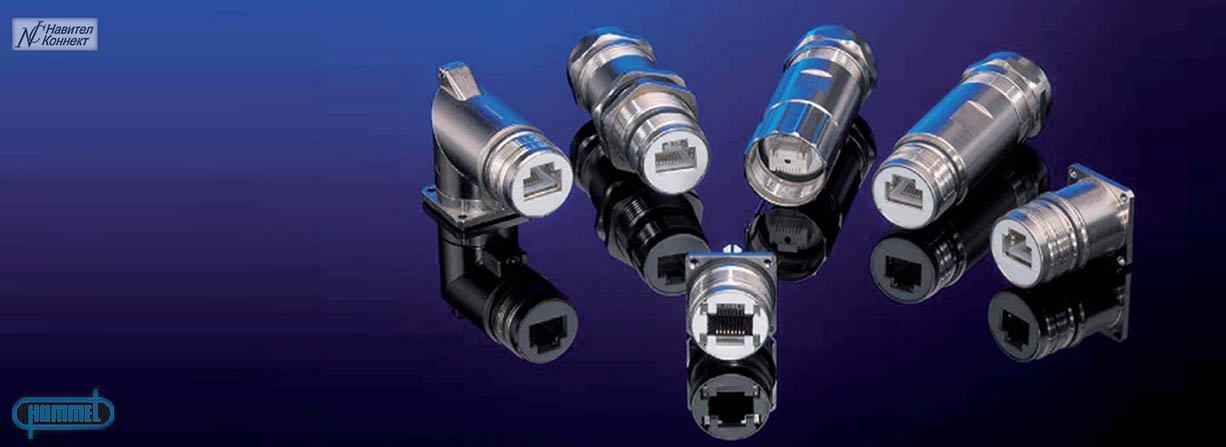Цилиндрические герметичные разъемы М16, М23, М27, М40 Hummel